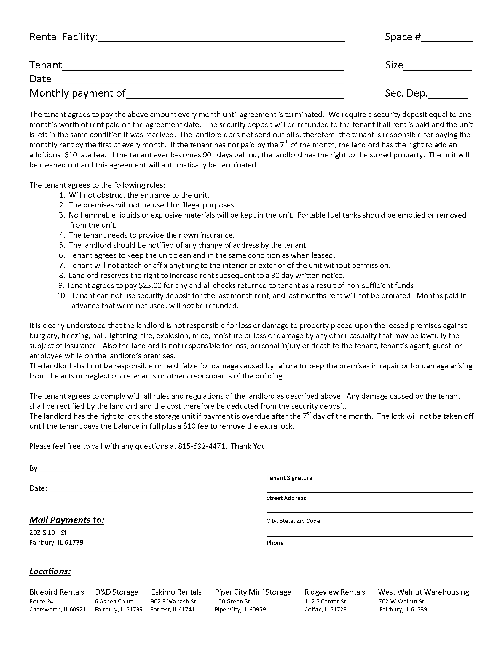 Basement rental agreement form best photos of printable for Basement forms